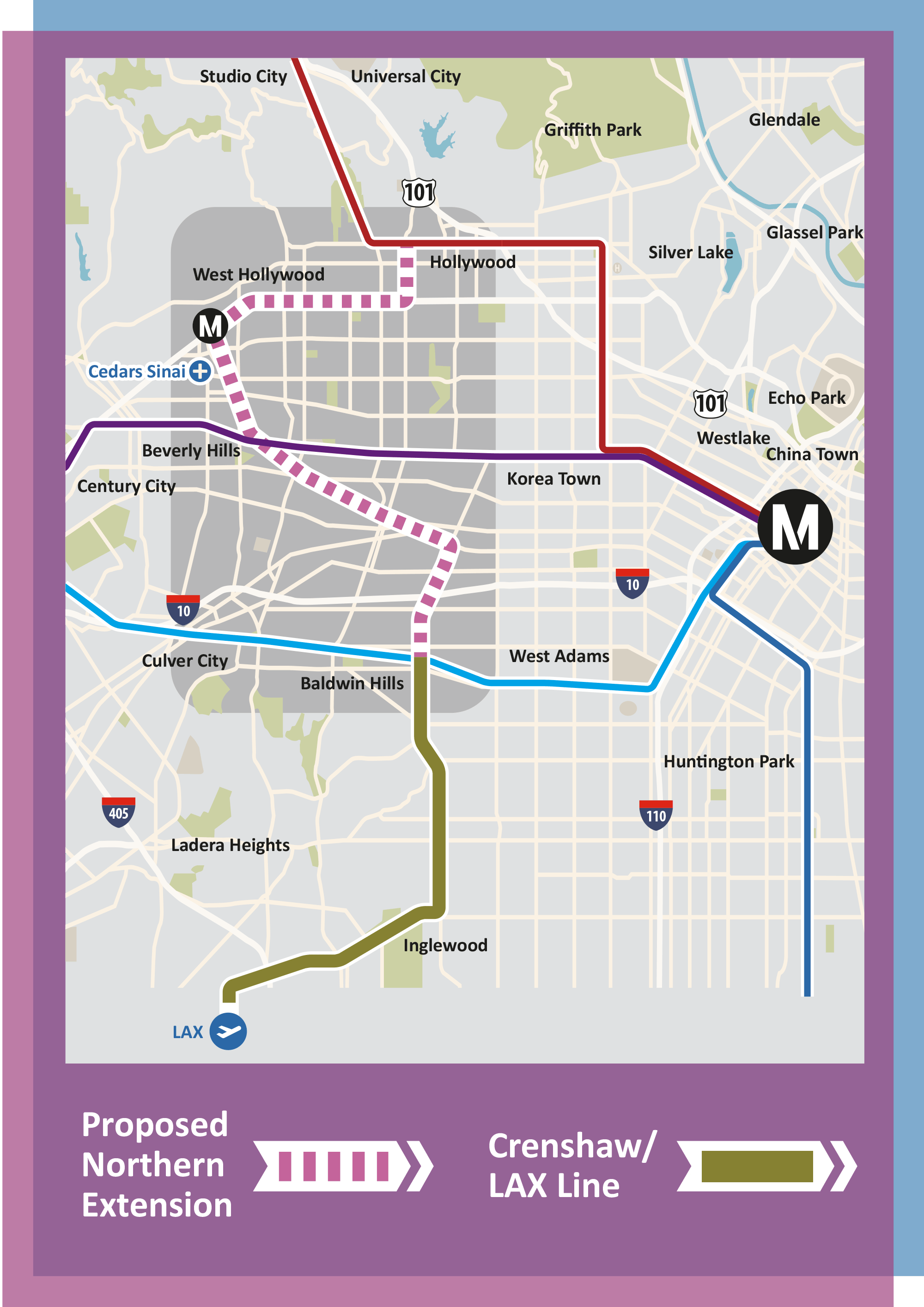 WHAM  West Hollywood Advocates For Metro Rail - Los angeles metro expansion map